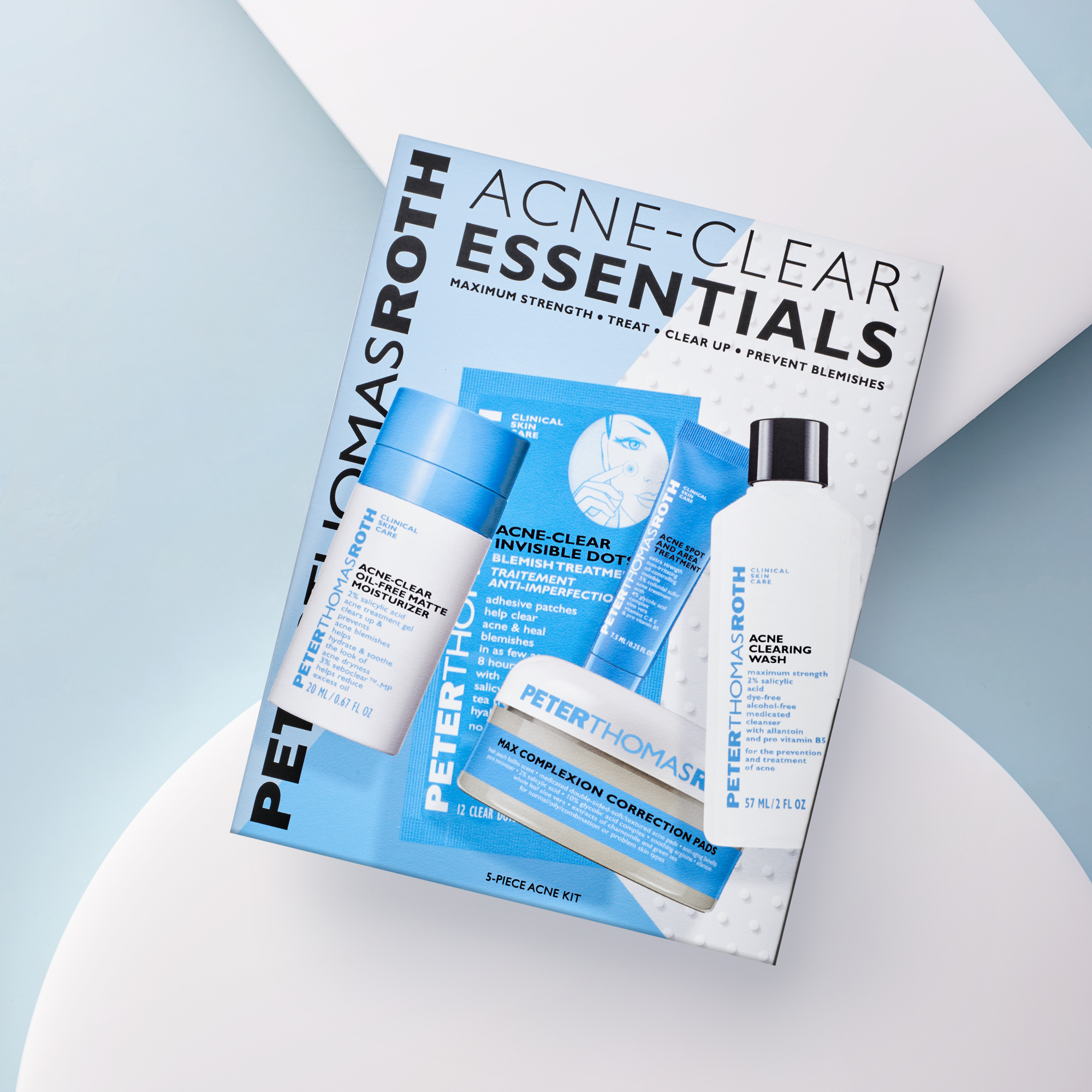 Acne Clear Essentials 5 Piece Acne Kit Peter Thomas Roth